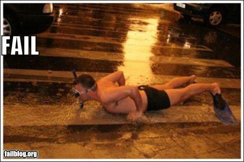 failboat,g rated,rain,snorkeling,sports,street,water