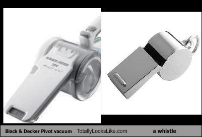 Black & Decker Pivot vacuum Totally Looks Like a whistle