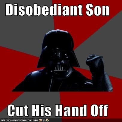 High Expectations Success Vader: Disobediant Son