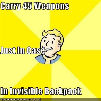 Carry 45 Weapons Just In Case In Invisible Backpack