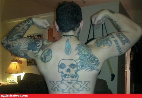 It's Like He Got Every Tattoo in The Cliche Example Folder