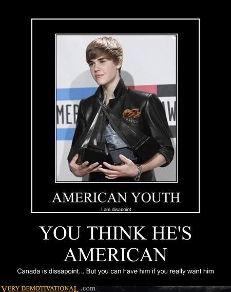 Canada,usa,justin beiber,disappoint