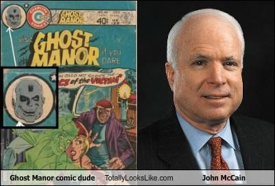 comics,ghost manor,john mccain,politicians,senator