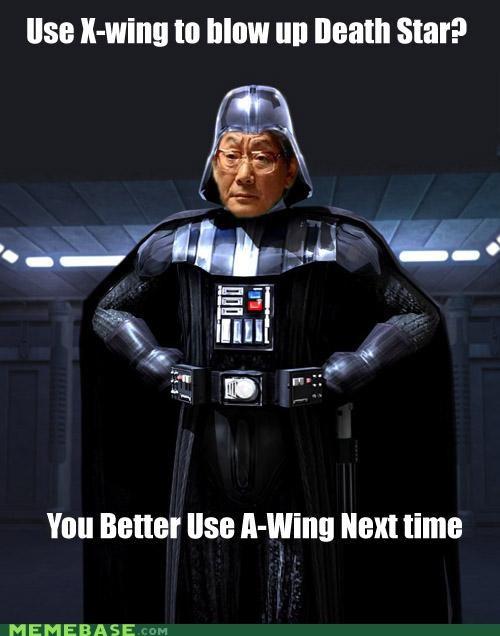 asian vader,a-wing,darth vader,high expectations asian dad,star wars,x wing