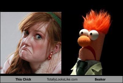 beaker,girl,the muppets