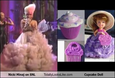 Nicki Minaj on SNL Totally Looks Like Cupcake Doll
