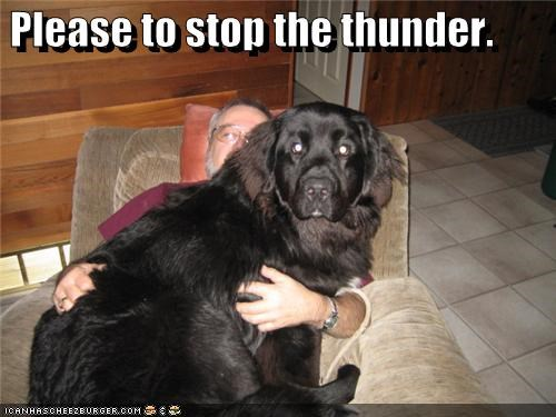 Please to stop the thunder.
