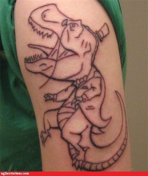 tattoos,funny,dinosaurs,t rex