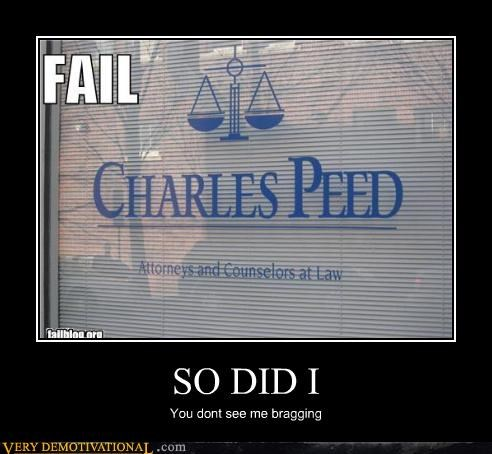 pee,bragging,charles