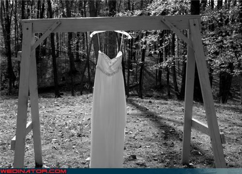 black and white,bride,creepy wedding dress,fashion is my passion,funny wedding photos,hanging dress,invisible bride,scary wedding dress picture,technical difficulties,ummm,wtf,wtf is this