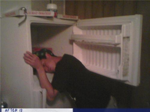 food,freezer,fridge,passed out