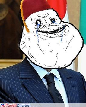 egypt,forever alone,Hosni Mubarak,internet,meme,Protest,riot