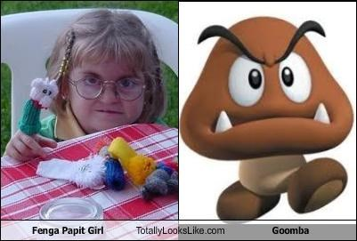 Fenga Papit Girl Totally Looks Like Goomba