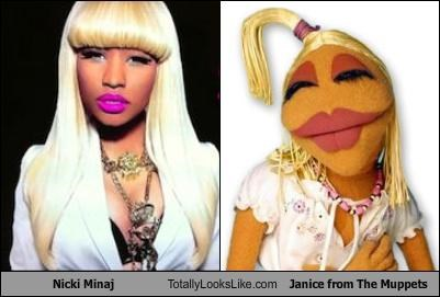 janice,makeup,musician,nicki minaj,rapper,the muppets