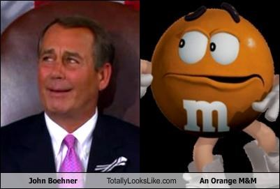 John Boehner Totally Looks Like An Orange M&M