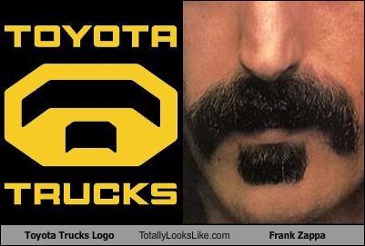 cars,frank zappa,logo,musician,mustache,toyota