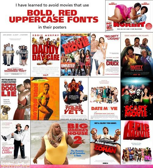 Pro Tip: Avoid Movies That Use Bold, Red Uppercase Fonts In Their Posters