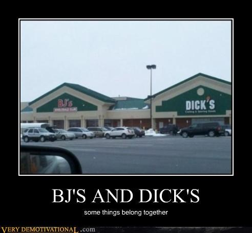 BJ'S AND DICK'S