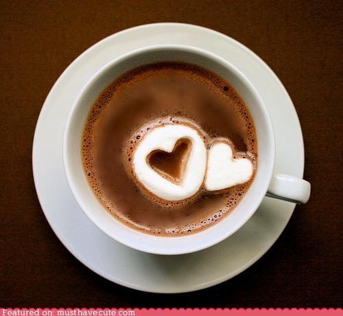 epicute,hearts,hot chocolate,marshmallows