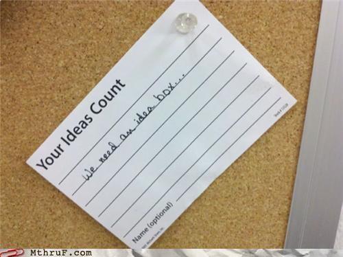 bulletin board,idea,idea box,note