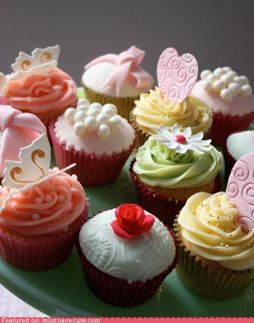 colorful,cupcakes,epicute,fondant,pink