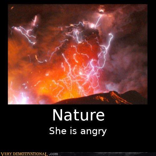 nature,volcano,angry,lightening