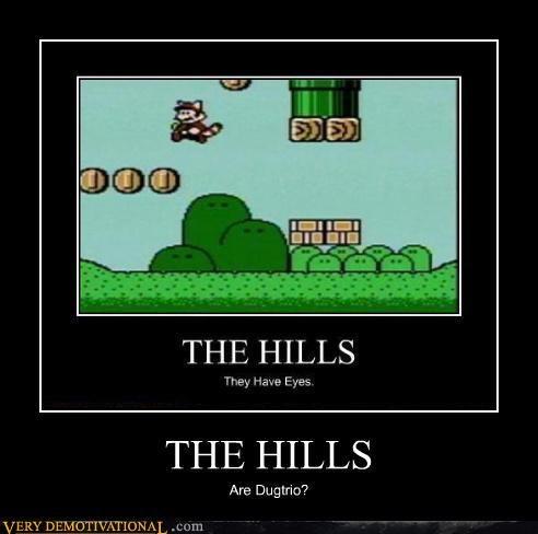dugtrio,hills,video games,mario bros
