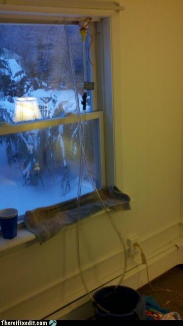 bucket,leak,tube,window