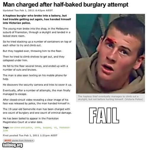 Probably Bad News: Burglary Plan FAIL