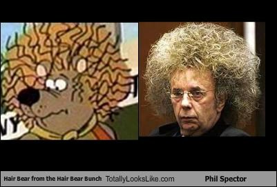 Hair Bear from The Hair Bear Bunch Totally Looks Like Phil Spector