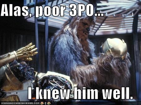 You'll Never Get Your One Wookie Hamlet Off The Ground Pal...