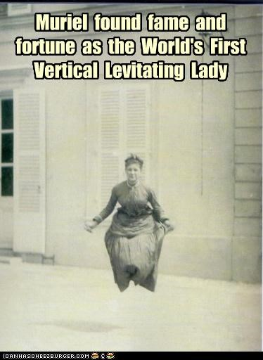 Muriel  found  fame  and  fortune  as  the  World's  First Vertical  Levitating  Lady