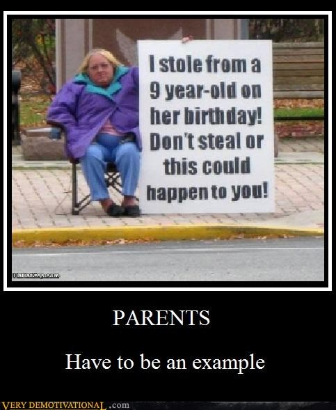 example,theft,parents