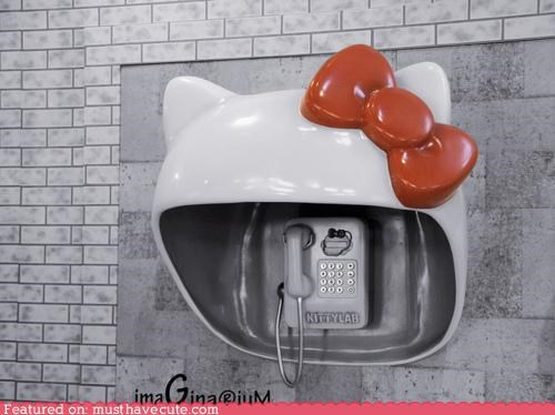 Hello Kitty Phone Booth