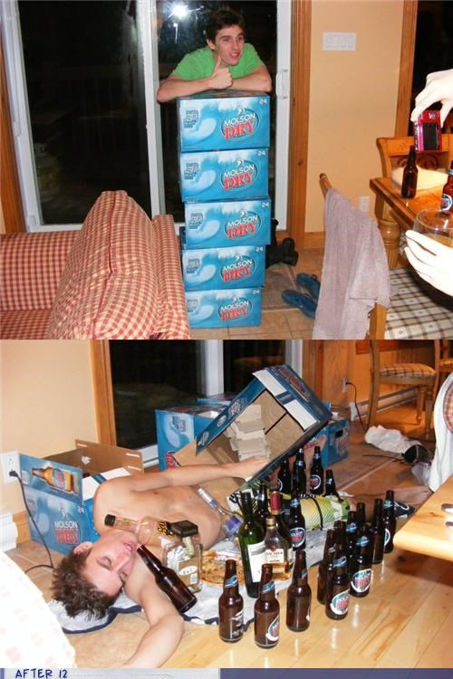 beer,Before And After,passed out,too much
