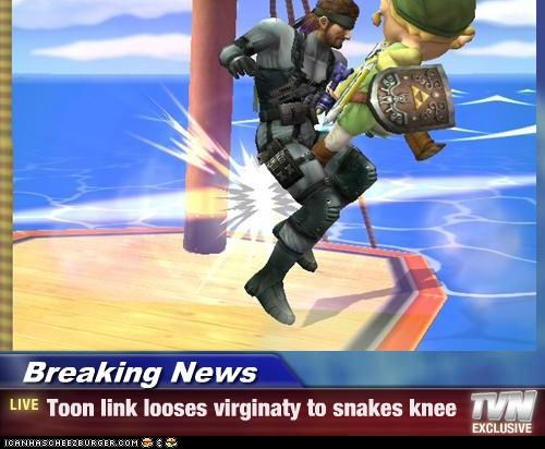 Breaking News - Toon link looses virginaty to snakes knee