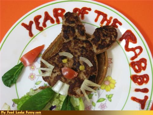 Funny Food Photos - Year of the Rabbit Burger