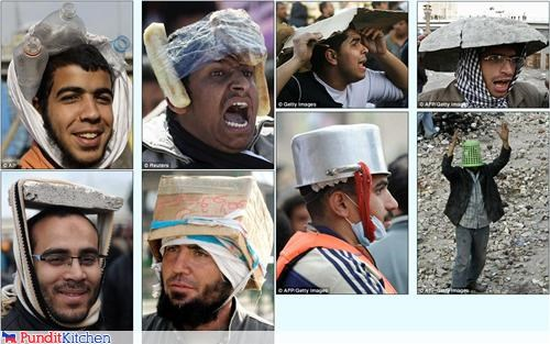 breadsticks,egypt,food,hats,helmets,protestors,protests,riots,wtf,yemen