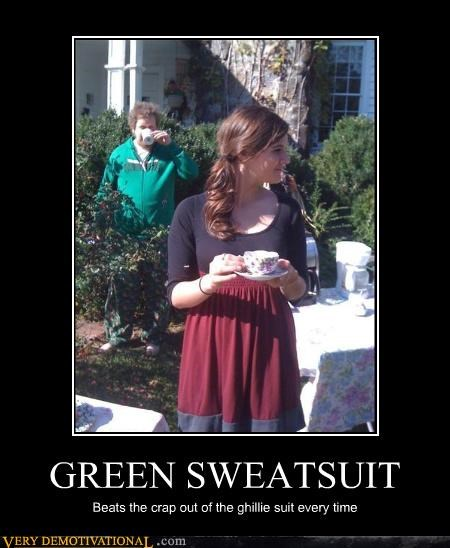 green,camouflage,sweatsuit,ghillie suit
