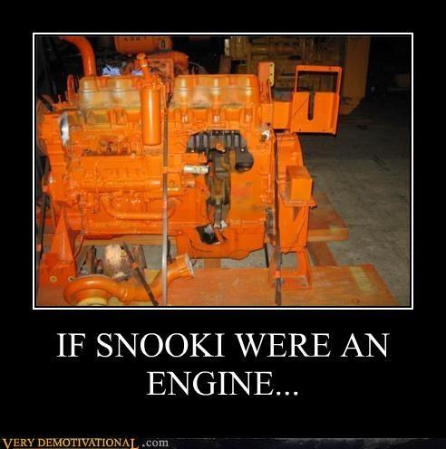 IF SNOOKI WERE AN ENGINE...