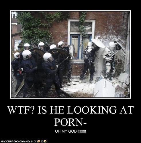 WTF? IS HE LOOKING AT PORN-
