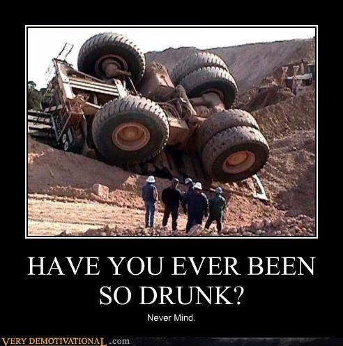 drunk,flipped,dump truck