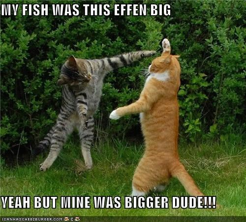 MY FISH WAS THIS EFFEN BIG  YEAH BUT MINE WAS BIGGER DUDE!!!