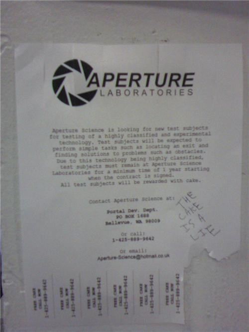 Aperture Science is recruiting