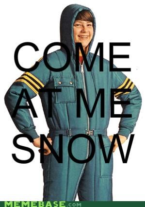 bunny suit,come at me bro,Memes,snow