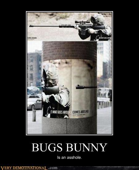 rifle,bugs bunny,uh oh,jerk