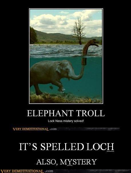 loch,mystery,idiots,spelling
