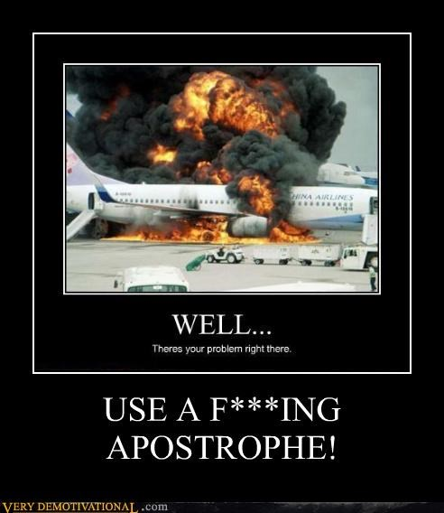 apostrophe,horrible,grammar,plane