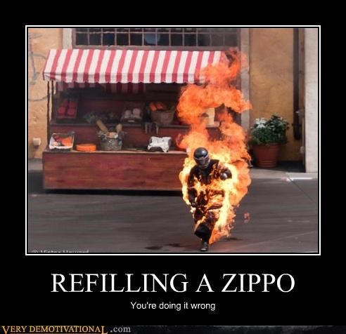 REFILLING A ZIPPO
