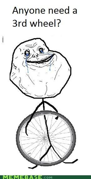 bicycle,forever alone,third wheel